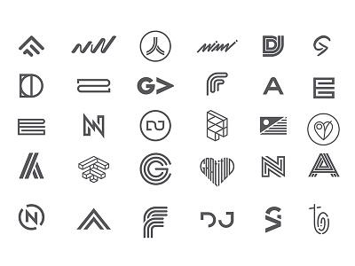 Logos of 2017 typography mark trademark symbol lettermark wordmark linear monogram brand logo