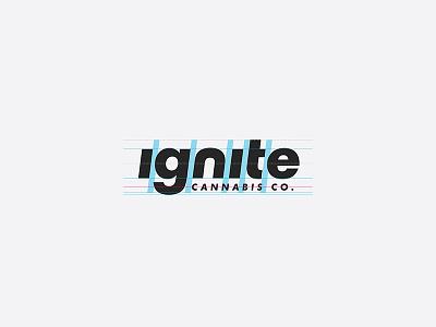 Ignite Cannabis Co. — Exercise packaging construction logotype wordmark cannabis ignite logo bilzerian dan
