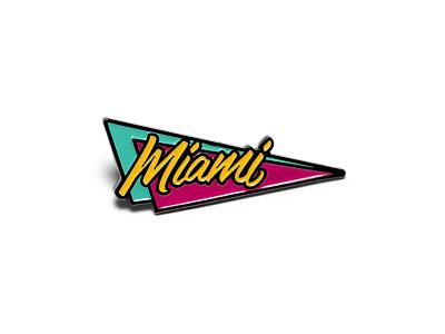Miami Retro Pin — Arkadia 1981 typography type lettering 80s triangle arkadia retro miami pin