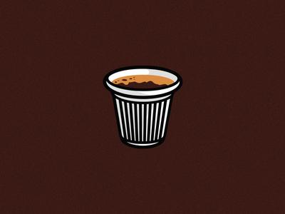 Cafecito shot espresso cup brown icon illustration cafe colada cuban coffee miami cafecito