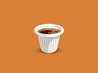 Cafecito with some Extra Espumita delicious brown white icon illustration cafe colada miami cuban coffee espresso shot