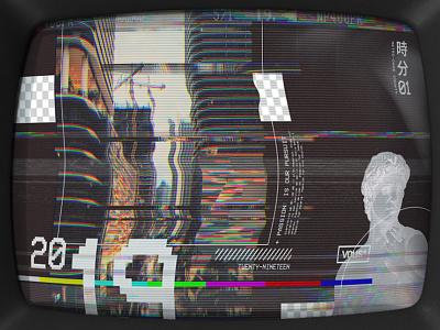 VHS — Concept Art for VOUS Church 2019 city miami vous typography tv set future retro crt pixel scanlines church slide smpte television vaporwave glitch vhs
