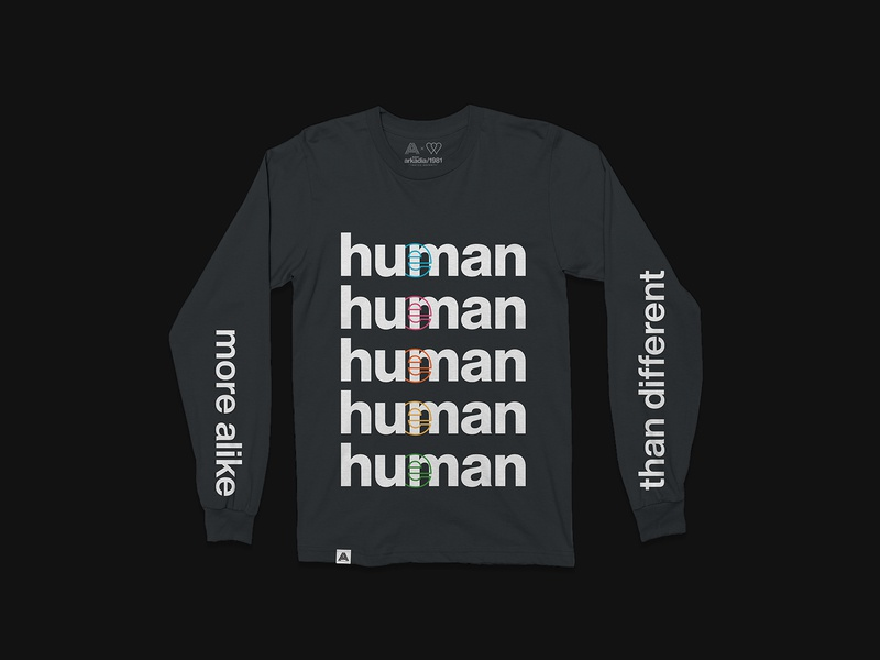 Hueman — Merch Collection helvetica shirt design miami nonprofit typography spectrum human streetwear apparel merch design