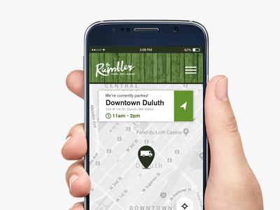 Rambler Food Truck Mobile Website