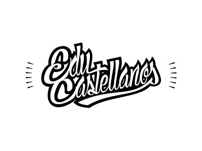 Educastellanos Hand Lettering Logo hand lettering educastellanos identity corporate white black type branding long design logo