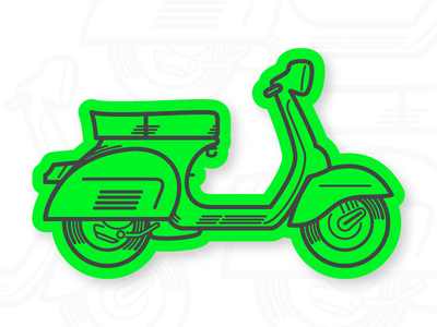 Vespa 150 Sprint vector simple minimal illustrator illustration flat sprint vespa sticker contest italy icon