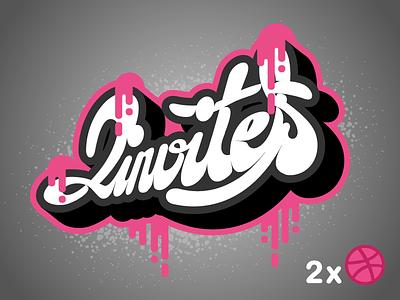 Two invites available hand lettering type handlettering designer design dribbble draft invitation invite invites