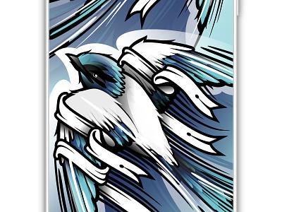 3 invites available bezier wildlife gradient blue vector animal wild illustration bird illustrator swallow