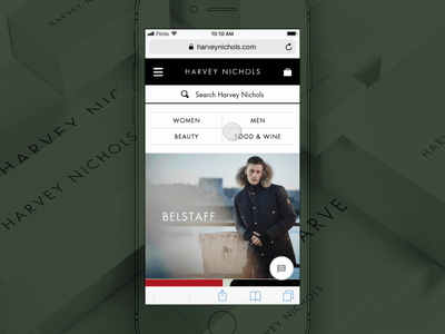 Filtering products harvey nichols mobile responsive shopping digital sketch flinto design ux ui prototype ecommerce
