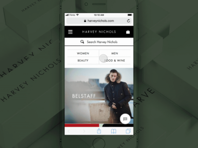 Filtering products harvey nichols mobile responsive shopping digital sketch flinto design ux ui prototype ecommerce