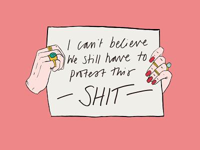 Body Positivity Alphabet - A for Activist ink illustration photoshop activist activism hand drawn type typography illustration