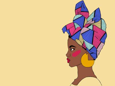 African Headwrap/ Turban illustration