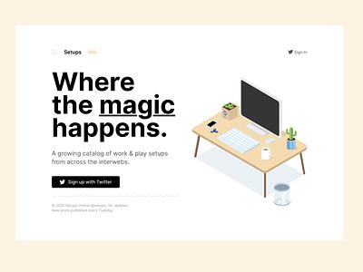 Share your setup! workspaces setups minimal app web