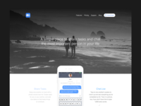 Landing Page - Early Exploration