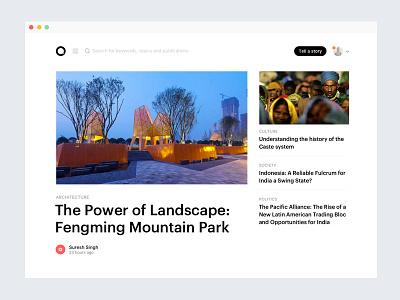 Articles Landing simple minimal clean text blog article