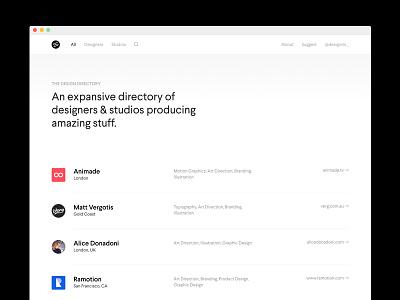 Launching TDD! web ux ui studios simple minimal list directory designers clean