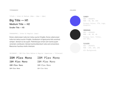 Brand Guide #1 ux ui colours typography guide brand