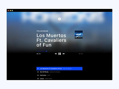Desk FM player music app web ux ui