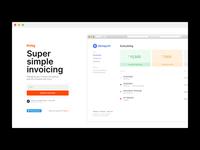 Alpha Landing Page app web minimal landing invoy invoice