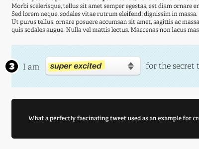 Twitter Feedback Bar (Part 1) form twitter feedback dropdown