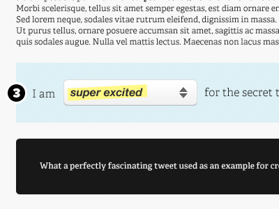Twitter Feedback Bar (Part 1) form twitter feedback dropdown