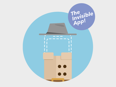 The Invisible App icon trenchcoat invisible iphone