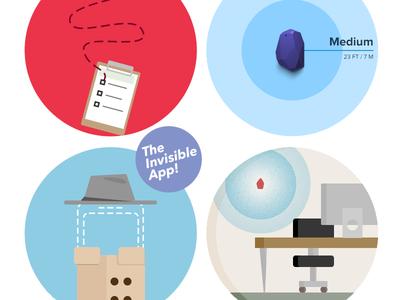 Blog post icons circles illustrated robin flat
