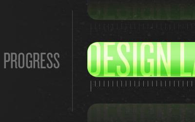 Process Bar Cycle progressbar green black condensedtype
