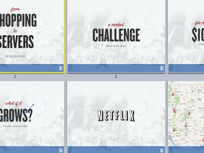 Shopping, Servers, Slides presentation slides keynote blue