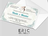 Convite de casamento. Wedding Invitation