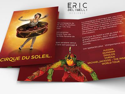 Printed Folder cirque frances web canada yellow red printed folder cirque du soleil
