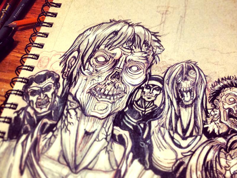 Zombie Apocalypse Survival Guide By Ali Castro Dribbble Dribbble