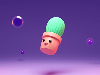 Cute Cactus Animation 3d animation cactus illustration cgart cg blender3dart blender3d blender