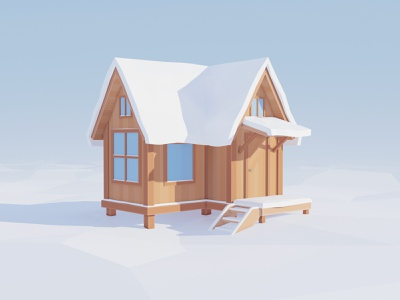 Tiny House low poly game design game art 3d cgart house tiny house blender3d blender