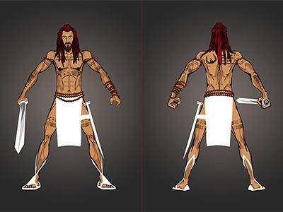 Yogarrior warrior mmorpg concept art video game character design medieval