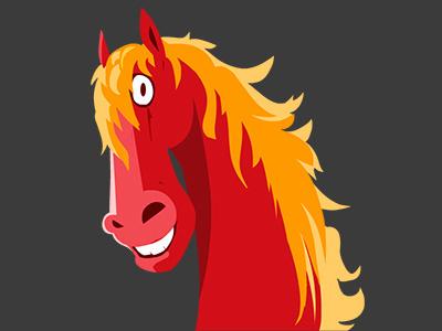 Horse Power love horse wild app icon illustrator