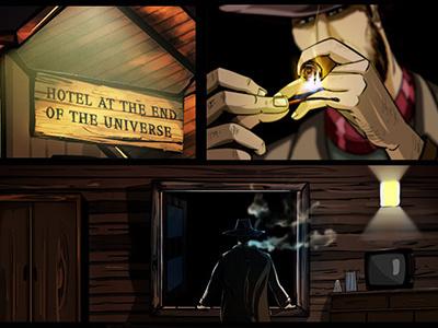 The Dark Truth illustrator illustration graphic novel detective comic