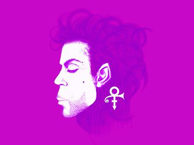 Prince sketch illustrator illustration portrait purple rain prince