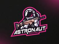 Astronaut Gaming Mascot Logo Design