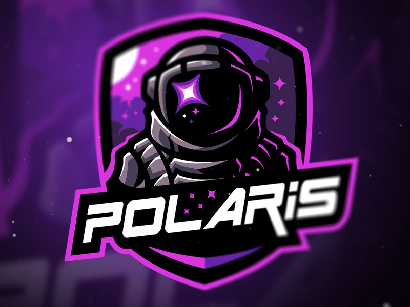 Polaris vector twitch team logo strong streamers sports logo sportslogo astronaut mascot logodesign illustration logo logo gaming gamers game esports branding bold