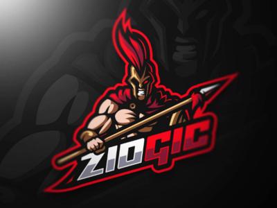 ZIOGIC Spartan Mascot Logo Design
