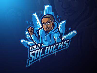 Cold Soldiers Portrait Mascot logo