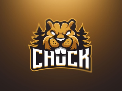 Chuck - Beaver mascot brown logo beaver logo bold sports art vector gaming logo cool mascot illustration branding logo