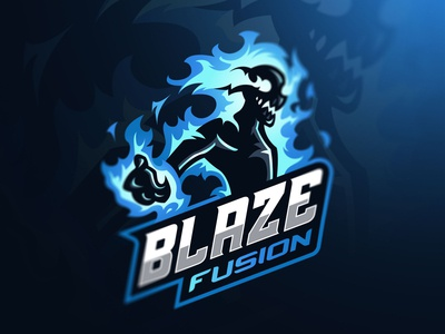 Blaze Fusion Mascot Logo Design