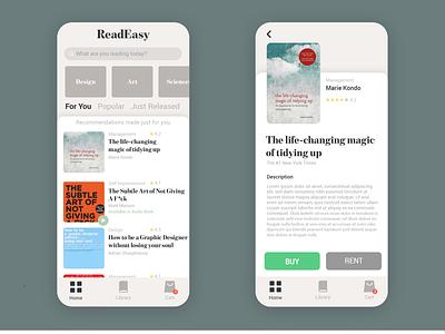 E-Book Reader Concept flat design uidesign uxdesign ui ux uxui ebook layout ebook design ebooks ebook online books design e-books books book audio book e-book e-library app