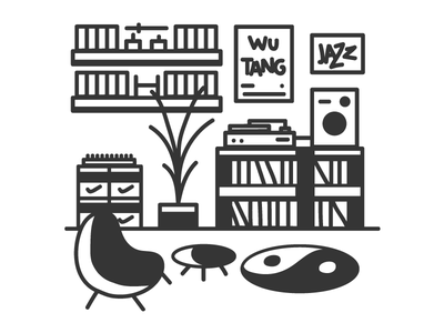 Personal Space architecture music vynil space yin yang jazz wutang nike