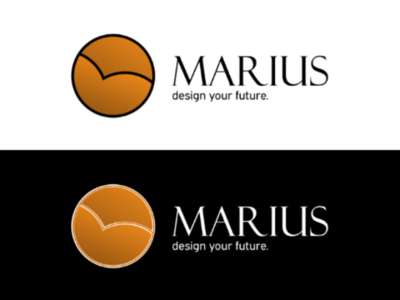 Marius logo - Design agency visual brand design typography logo