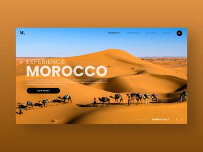 Travel Web UI tourist morocco travel web design user interface ui