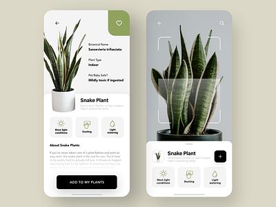 Plant AR UI design mobile user experience uxui plants ar design user interface ui