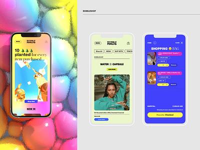 BOBBLEHAUS new york fashion web design ui sabbath